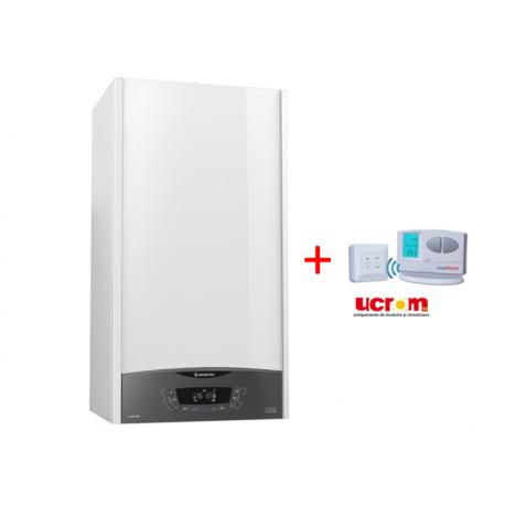 Centrala  Ariston CLAS ONE 24 + termostat digital wireless programabil Logictherm C7RF