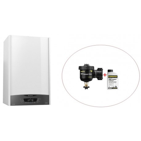 Centrala  Ariston CLAS ONE 30, kit evacuare si filtru antimagnetita Fernox TF1 Compact incluse