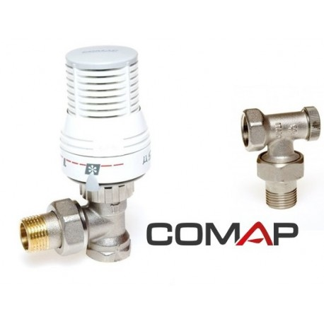 Robinet COMAP tur termostatabil 1/2 + cap termostatic si retur 1/2