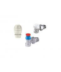 Set robinet GIACOMINI tur corp, cap termostatabil  + retur 1/2