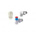 Set robineti GIACOMINI  tur corp, cap termostatabil  + retur 1/2