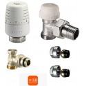 Set robineti IVAR - tur termostatabil + cap termostatic + retur + conectori teava CU 15