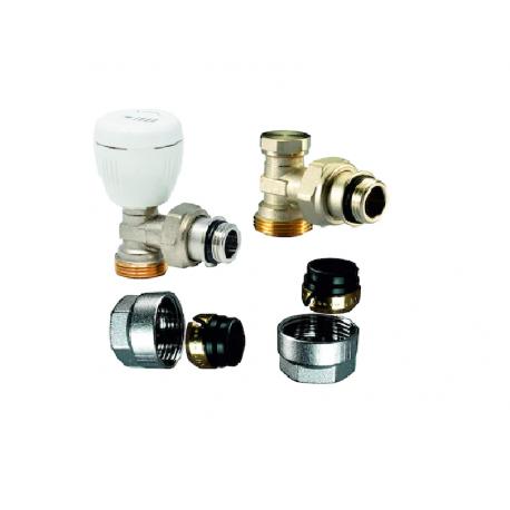 Set robineti IVAR - tur + retur + conector teava CU 15