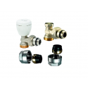 Set robineti IVAR - tur + retur + conectori teava CU 15