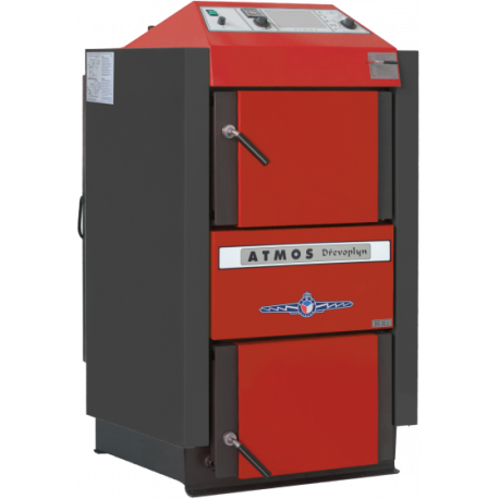 Cazan ATMOS DC50S 49.9 kW, cu gazeificare, cu exhaustor de fum, pe lemne