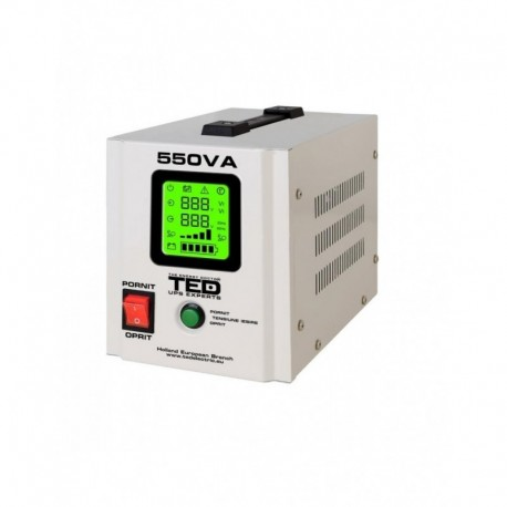 UPS pentru centrala TED Electric 550VA / 300W Runtime extins utilizeaza 1 acumulator (neinclus)