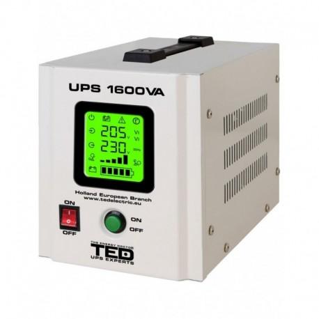 UPS pentru centrala TED Electric 1600VA / 1050W Runtime extins utilizeaza 2 acumulatori (neinclusi)