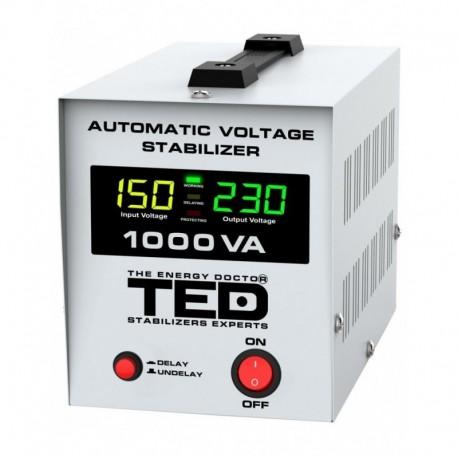 Stabilizator retea maxim 1000VA-AVR LCD 1 iesire schuko TED1000NEW