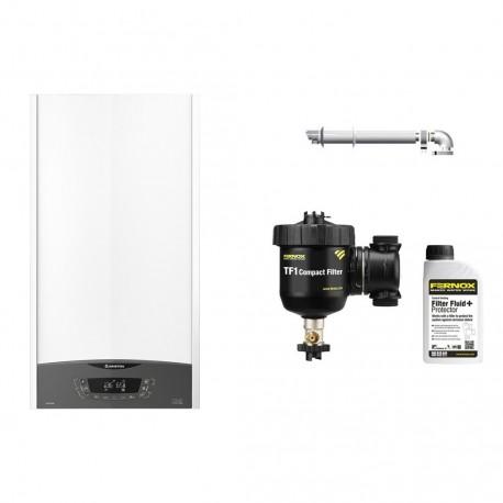 Centrala  Ariston CLAS ONE 24 kW, kit de evacuare, filtru antimagnetita Fernox TF1 Compact+fluid protector incluse