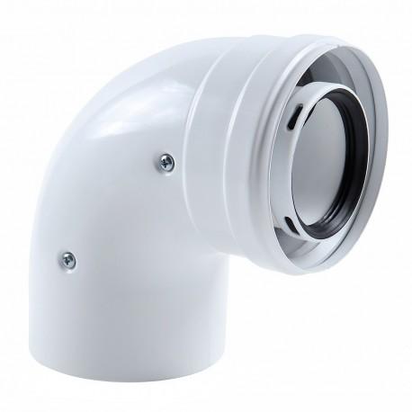 Cot coaxial pentru centrala in condensare la 90grd diametru 60/ 100 mm