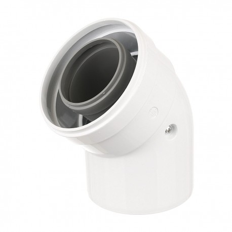 Cot coaxial pentru centrala in condensare, la 45grd, diametru 60/100 mm